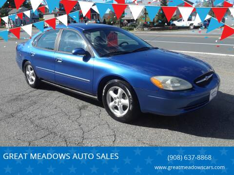 2003 Ford Taurus for sale at GREAT MEADOWS AUTO SALES in Great Meadows NJ