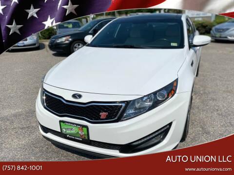 2013 Kia Optima for sale at Auto Union LLC in Virginia Beach VA