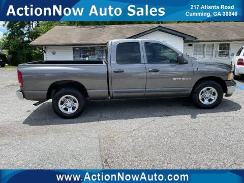 2002 Dodge Ram Pickup 1500 for sale at ACTION NOW AUTO SALES in Cumming GA