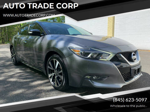 2016 Nissan Maxima for sale at AUTO TRADE CORP in Nanuet NY