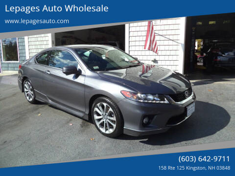 2015 Honda Accord for sale at Lepages Auto Wholesale in Kingston NH