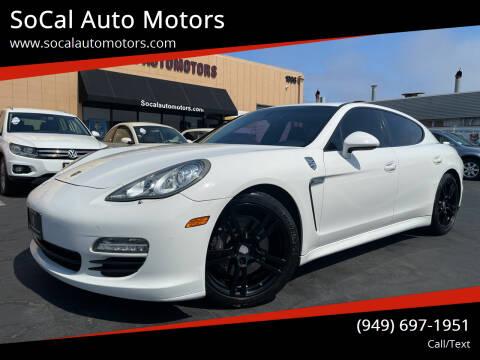 2012 Porsche Panamera for sale at SoCal Auto Motors in Costa Mesa CA