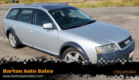2004 Audi Allroad for sale at Barton Auto Sales in Longmont CO