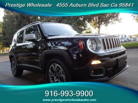 2017 Jeep Renegade for sale at Prestige Wholesale in Sacramento CA
