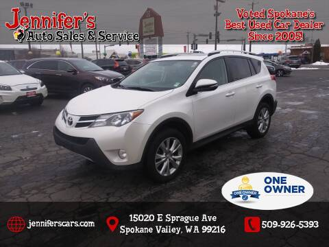 2013 Toyota RAV4 for sale at Jennifer's Auto Sales in Spokane Valley WA