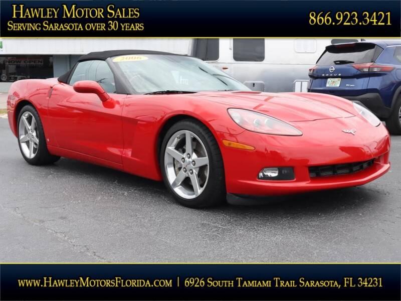 2006 Chevrolet Corvette for sale at Hawley Motor Sales in Sarasota FL