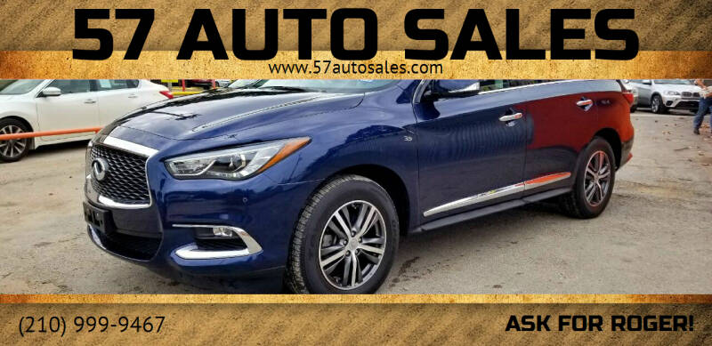 2017 Infiniti QX60 for sale at 57 Auto Sales in San Antonio TX