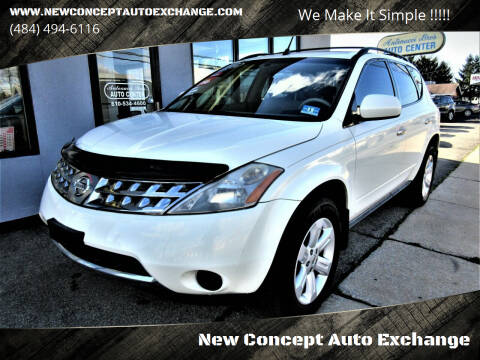 2006 Nissan Murano for sale at New Concept Auto Exchange in Glenolden PA