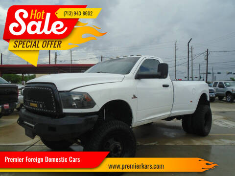 2016 RAM Ram Pickup 3500 for sale at Premier Foreign Domestic Cars in Houston TX