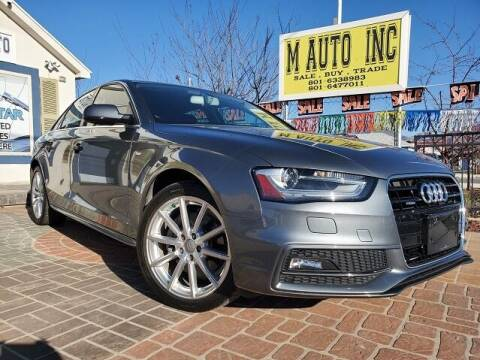 2015 Audi A4 for sale at M AUTO, INC in Millcreek UT