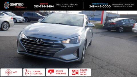 2020 Hyundai Elantra for sale at Quattro Motors 2 in Farmington Hills MI