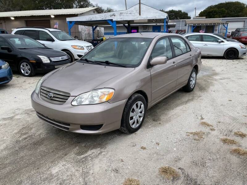 2003 Toyota Corolla for sale at SKYLINE AUTO SALES LLC in Winter Haven FL