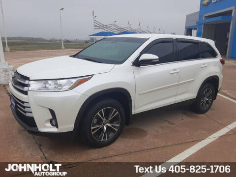 2019 Toyota Highlander for sale at JOHN HOLT AUTO GROUP, INC. in Chickasha OK
