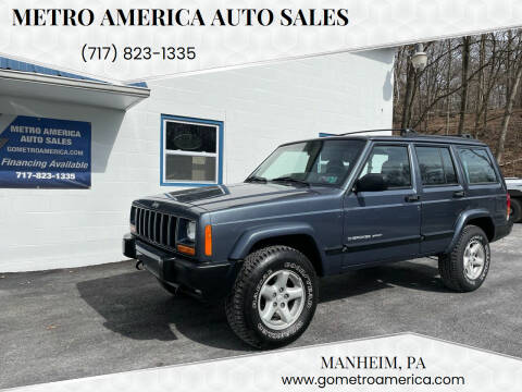 2001 Jeep Cherokee for sale at METRO AMERICA AUTO SALES of Manheim in Manheim PA