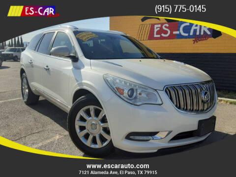 2014 Buick Enclave for sale at Escar Auto - 9809 Montana Ave Lot in El Paso TX
