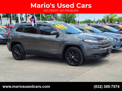 2015 Jeep Cherokee for sale at Mario's Used Cars in Houston TX