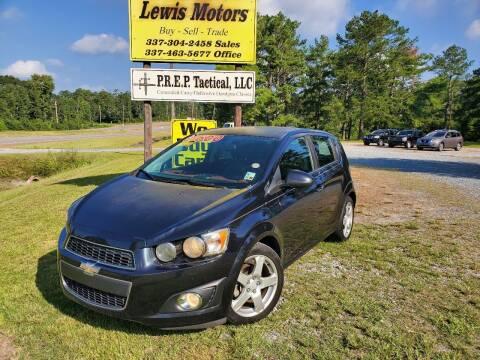 2015 Chevrolet Sonic for sale at Lewis Motors LLC in Deridder LA