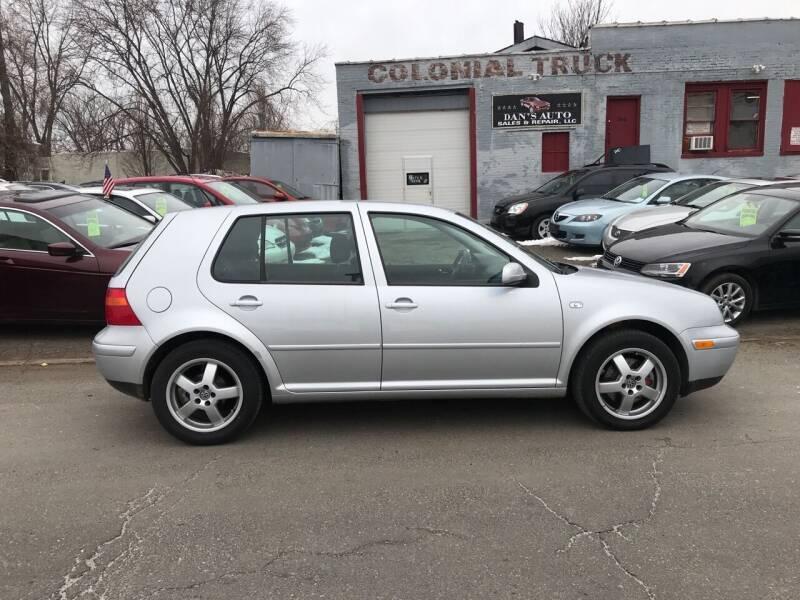 2001 Volkswagen Golf for sale at Dan's Auto Sales and Repair LLC in East Hartford CT