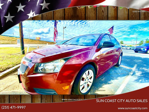 2012 Chevrolet Cruze for sale at Sun Coast City Auto Sales in Mobile AL