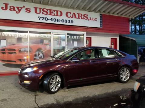 2013 Lincoln MKZ for sale at Jays Used Car LLC in Tucker GA