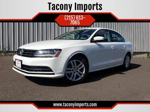 2018 Volkswagen Jetta for sale at Tacony Imports in Philadelphia PA