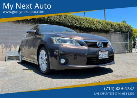 2011 Lexus CT 200h for sale at My Next Auto in Anaheim CA
