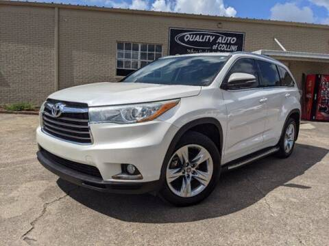 2016 Toyota Highlander for sale at Quality Auto of Collins in Collins MS