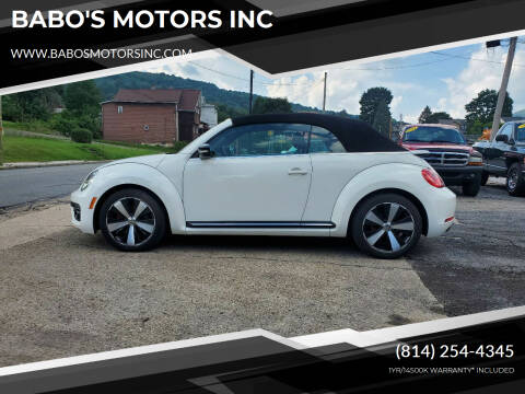 2013 Volkswagen Beetle Convertible for sale at BABO'S MOTORS INC in Johnstown PA
