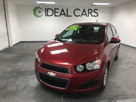 2012 Chevrolet Sonic for sale at Ideal Cars in Mesa AZ