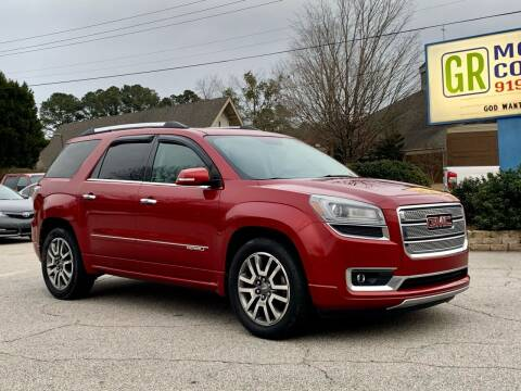 2013 GMC Acadia for sale at GR Motor Company in Garner NC