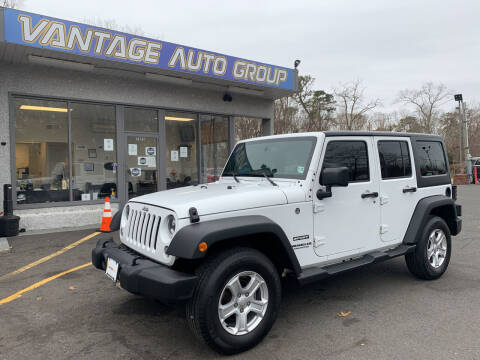2017 Jeep Wrangler Unlimited for sale at Vantage Auto Group in Brick NJ