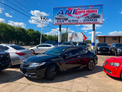 2016 Honda Accord for sale at ANF AUTO FINANCE in Houston TX