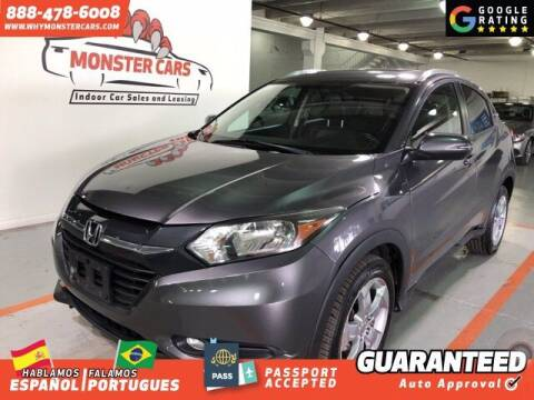 2016 Honda HR-V for sale at Monster Cars in Pompano Beach FL