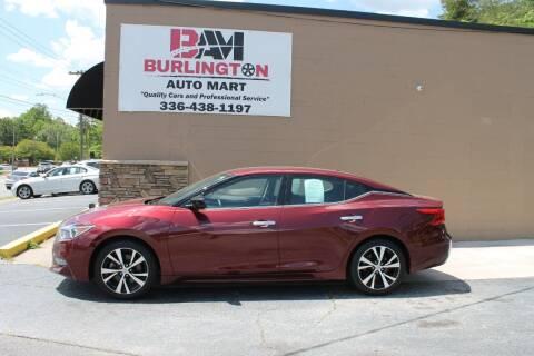 2017 Nissan Maxima for sale at Burlington Auto Mart in Burlington NC