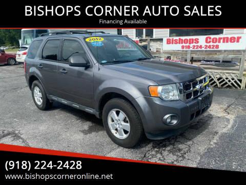 2012 Ford Escape for sale at BISHOPS CORNER AUTO SALES in Sapulpa OK