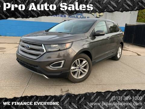 2015 Ford Edge for sale at Pro Auto Sales in Lincoln Park MI