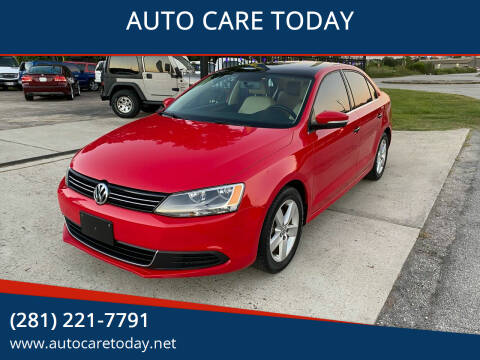 2013 Volkswagen Jetta for sale at AUTO CARE TODAY in Spring TX