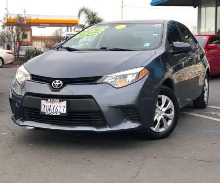 2014 Toyota Corolla for sale at LUGO AUTO GROUP in Sacramento CA