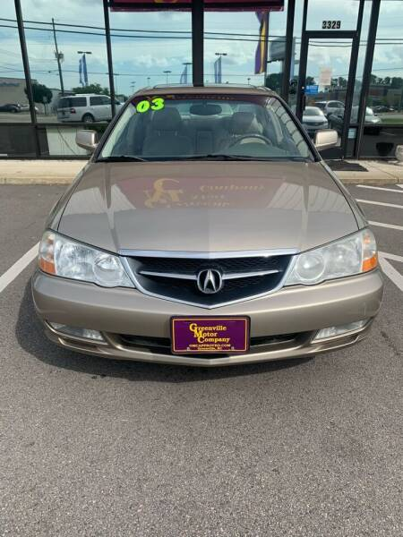 2003 Acura TL for sale at Greenville Motor Company in Greenville NC