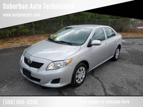 2010 Toyota Corolla for sale at Suburban Auto Technicians LLC in Walpole MA