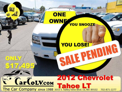 2012 Chevrolet Tahoe for sale at The Car Company in Las Vegas NV