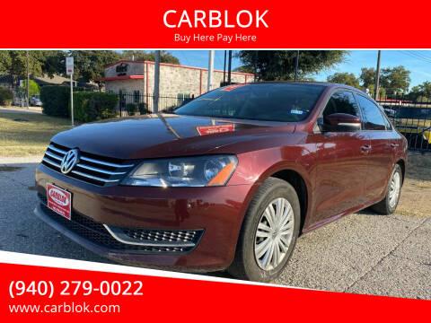 2014 Volkswagen Passat for sale at CARBLOK in Lewisville TX