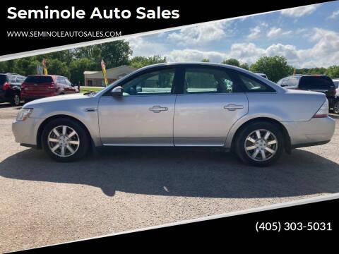 2008 Ford Taurus for sale at Seminole Auto Sales in Seminole OK