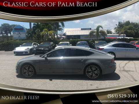 2016 Audi A7 for sale at Classic Cars of Palm Beach in Jupiter FL