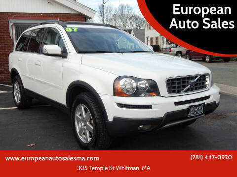 2007 Volvo XC90 for sale at European Auto Sales in Whitman MA
