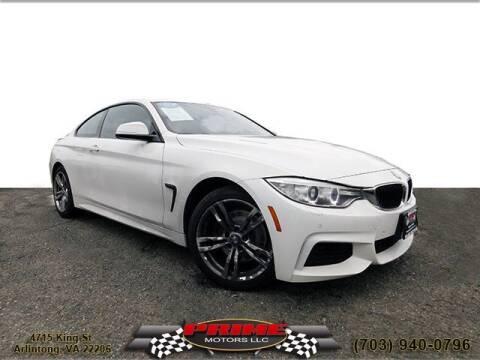 2014 BMW 4 Series for sale at PRIME MOTORS LLC in Arlington VA