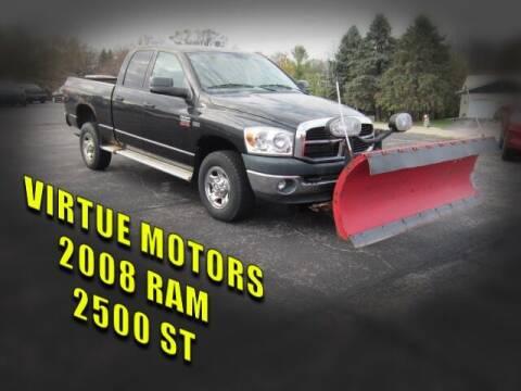 2008 Dodge Ram Pickup 2500 for sale at Virtue Motors in Darlington WI