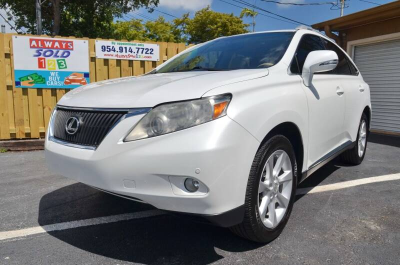 2011 Lexus RX 350 for sale at ALWAYSSOLD123 INC in Fort Lauderdale FL