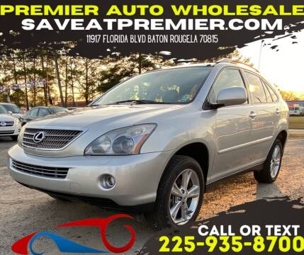 2008 Lexus RX 400h for sale at Premier Auto Wholesale in Baton Rouge LA