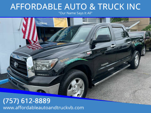 2008 Toyota Tundra for sale at AFFORDABLE AUTO & TRUCK INC in Virginia Beach VA